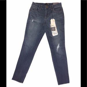 1822 Denim Distressed Ankle Skinny Jeans
